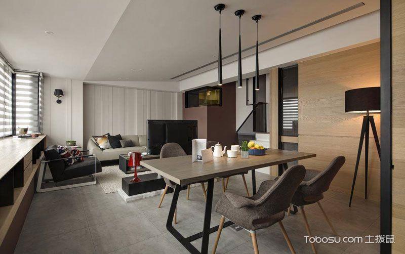 创意休闲空间 90平现代二居