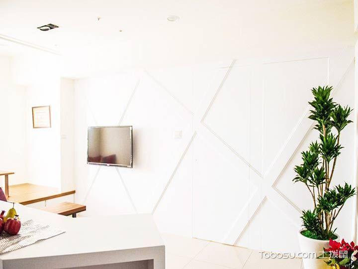 57平米现代简约装修 小空间里大幸福