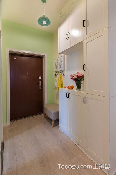 20万搞定100平三居室装修  清新果绿色