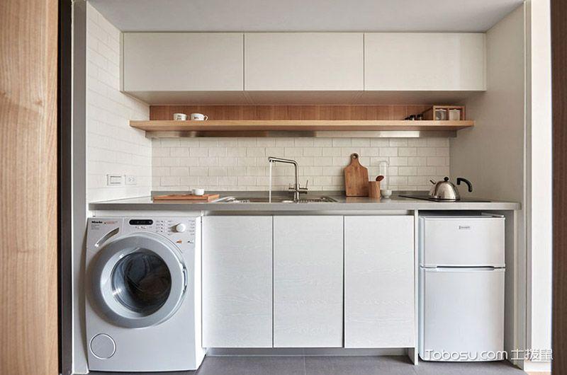 厨房 橱柜_现代中式风格公寓60平米装修