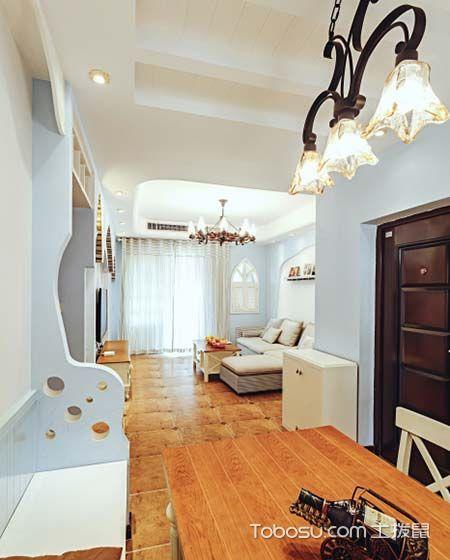 宁静的风雨 80平地中海两居室装饰效果图