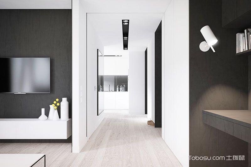 简约风格黑白色空间 60平米的简单畅想