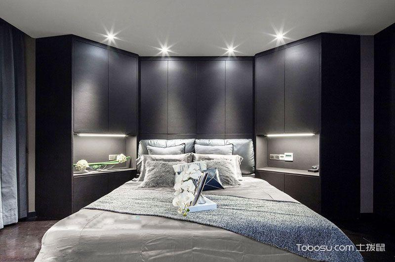 160平简约风格三室两厅装修 灰蓝色梦想