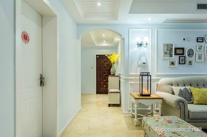 120平美式风格三居室装修 蓝色梦幻家