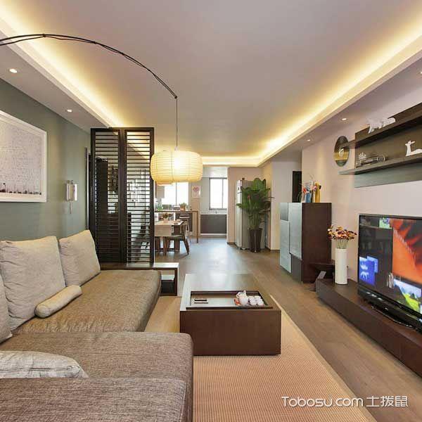 小户型80平米新中式风格装潢设计图片
