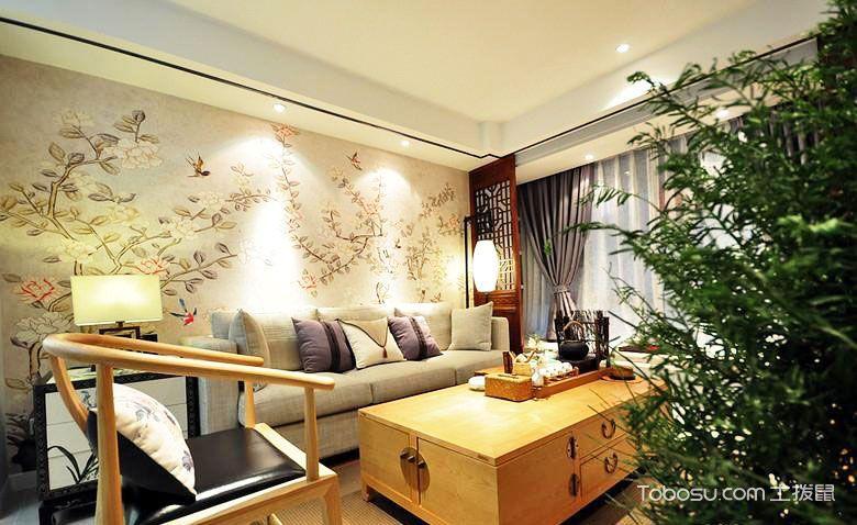 100平米新中式装修 两室一厅温馨家