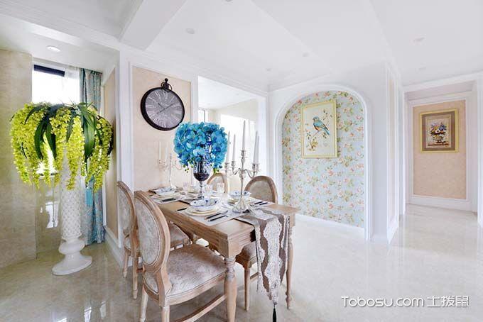 120平三居室装饰效果图  混搭中的小清新