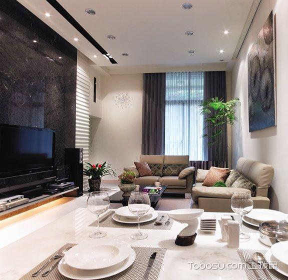 现代简约风格套房103平米家装设计