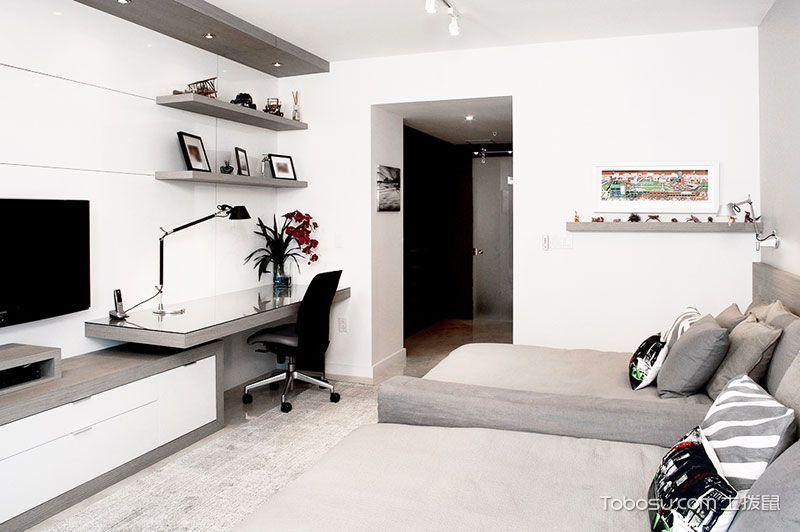 150平米现代简约装修 经典黑白两色设计