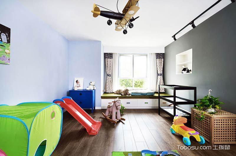 2020复古儿童房装饰设计 2020复古吊顶装修效果图片