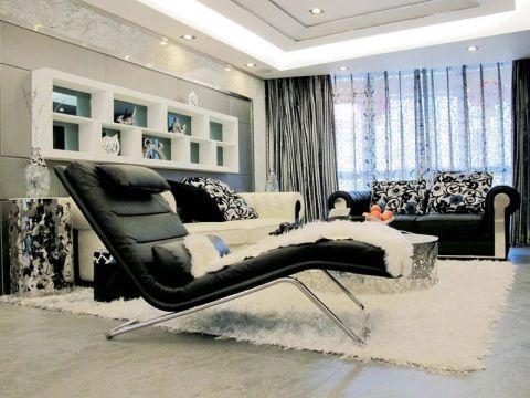 樸素溫馨客廳躺椅裝潢圖片