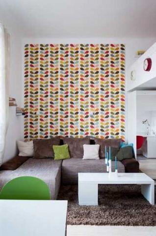文艺客厅背景墙墙纸设计图欣赏