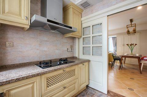 厨房黄色铝合金橱柜设计图