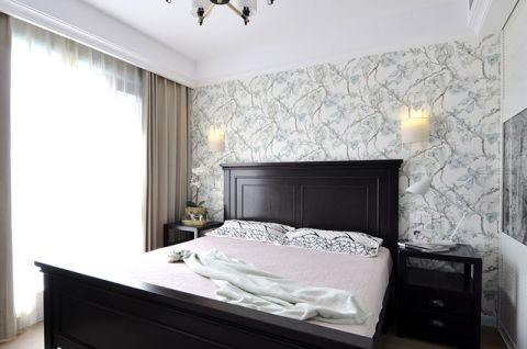 臥室床頭壁燈窗簾美式案例圖片