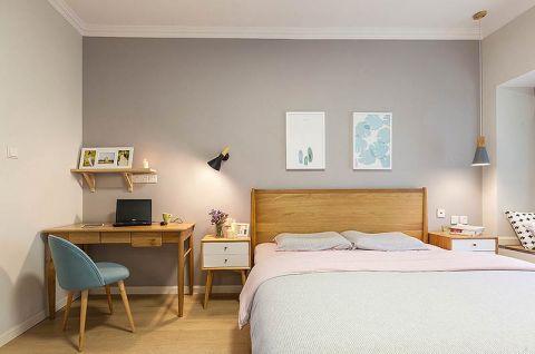 高贵风雅卧室床头壁灯书桌设计方案