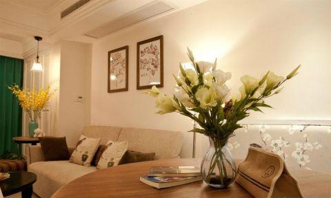 清新素丽客厅植物装修设计