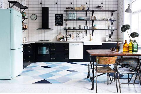 开放式厨房橱柜混搭装修