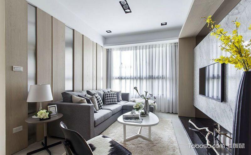 104平米现代简约装修 健康时尚人文居宅