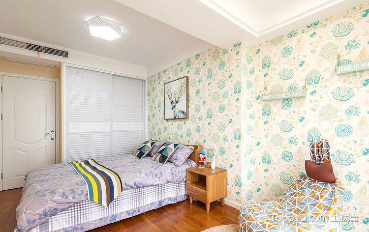 89平米简约风格三室两厅装修 阳光般温暖