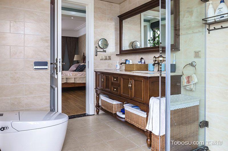 2019中式古典卫生间装修图片 2019中式古典浴室柜装修图片