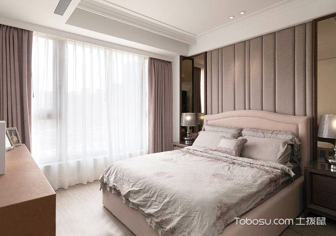 洋溢时尚情怀 125平欧式三居室装修效果图