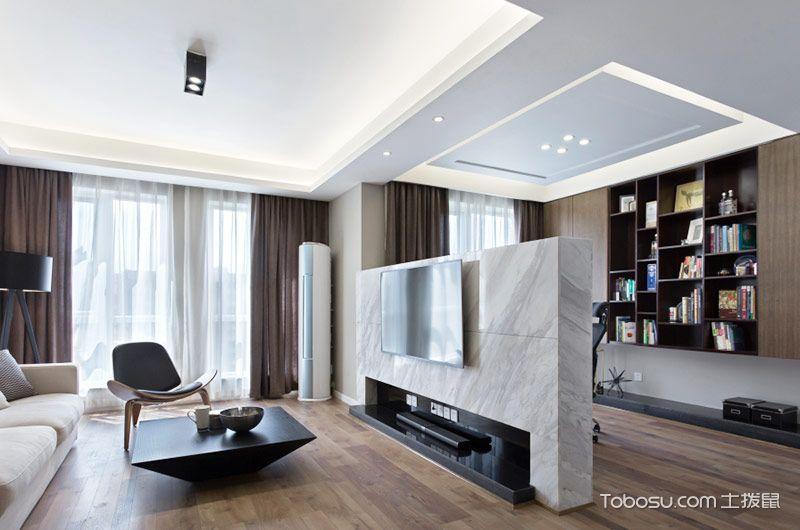 80平简约风格两室两厅效果图 简单高级灰