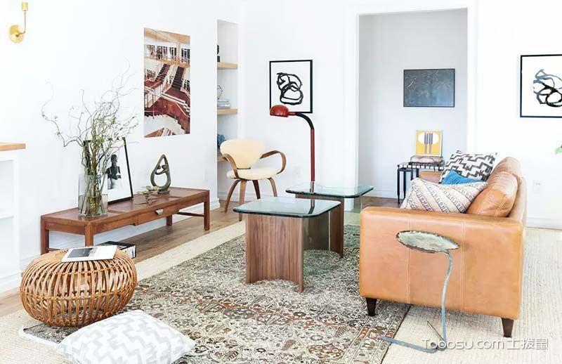 混搭风格公寓66平米家装设计图