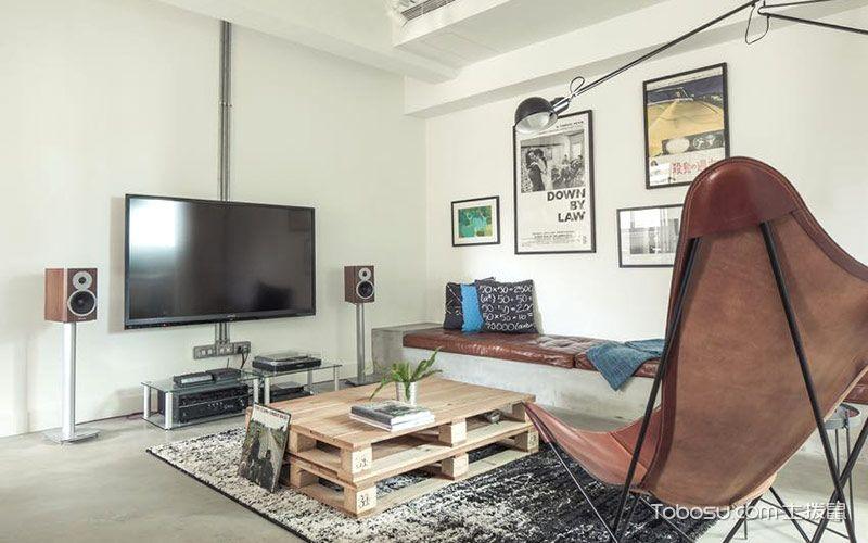 2019简约客厅装修设计 2019简约电视背景墙装修设计图片