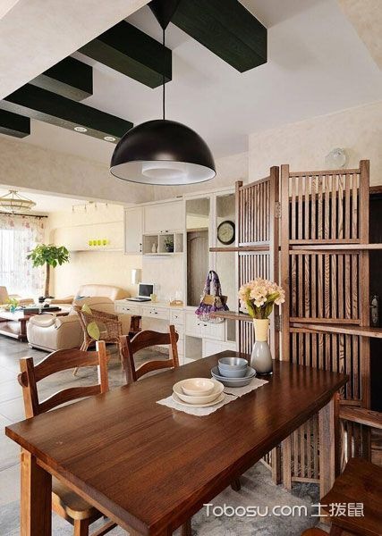 2020现代中式餐厅效果图 2020现代中式餐桌装修图片