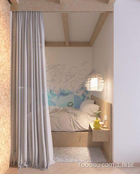 2019混搭卧室装修设计图片 2019混搭窗帘装修设计图片