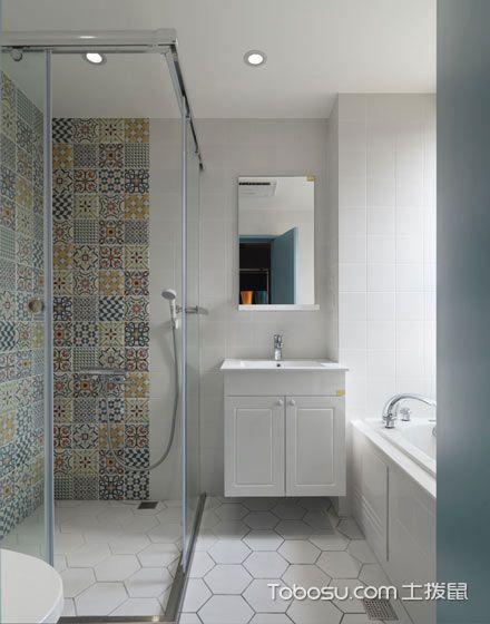 2019现代简约卫生间装修图片 2019现代简约浴室柜装修图片