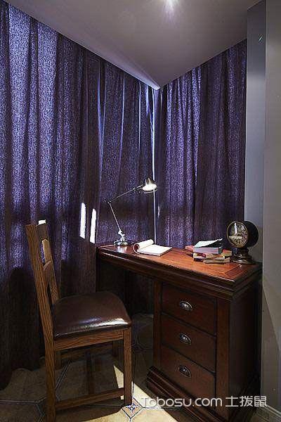 2019美式书房装修设计 2019美式书桌图片