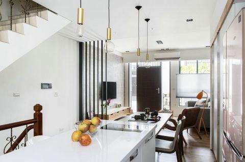 现代简约开放式厨房吧台装修设计