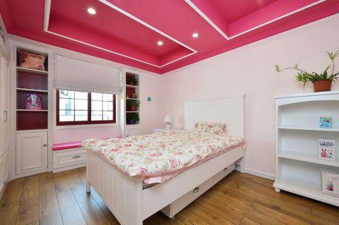 自然美式粉色吊顶设计效果图
