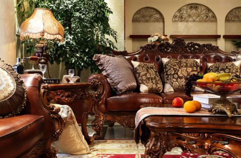 客厅茶几美式装修案例