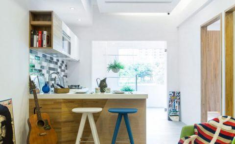 奢华米色开放式厨房装饰实景图