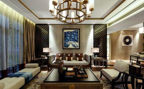 新中式风格二居室171平米室内装饰