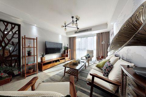 2019现代中式110平米装修设计 2019现代中式二居室装修设计