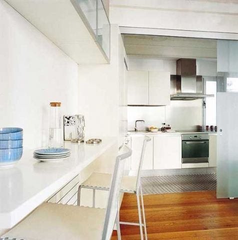浪漫厨房现代装修实景图片
