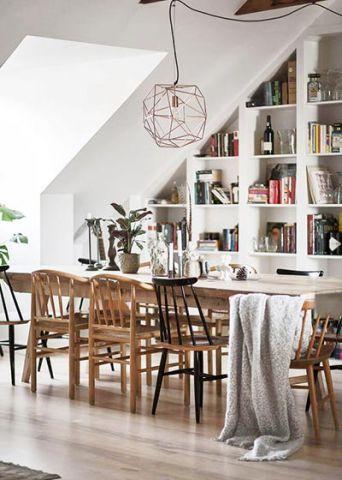 美好简约原木色餐桌装修案例