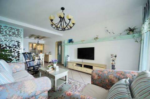 客厅黄色电视柜效果图图片