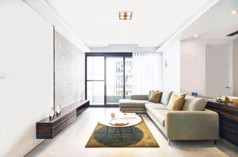 小户型67平米现代简约风格室内效果图