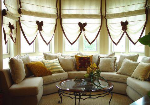 客厅米色沙发室内装修设计