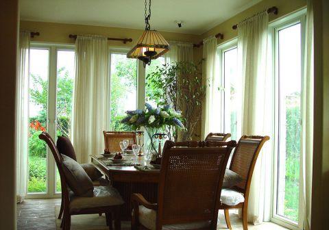 餐厅窗帘简欧室内装修图片
