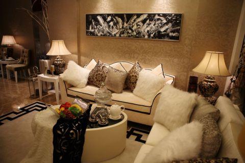 客厅背景墙简欧装饰设计