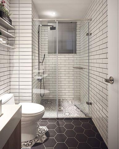 时尚卫生间背景墙家装设计图