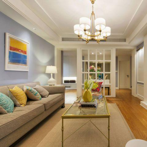 客厅壁纸灰色沙发设计