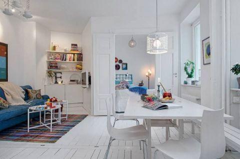 富丽白色餐桌装饰设计