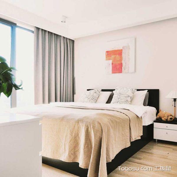2019现代简约卧室装修设计图片 2019现代简约窗帘装修设计图片