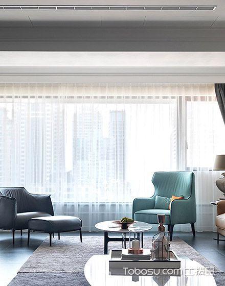 2019现代简约客厅装修设计 2019现代简约落地窗装修图片